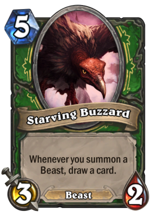 Starving Buzzard Card