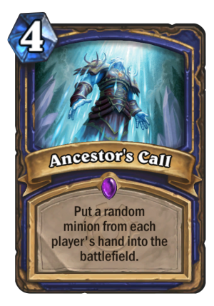 Ancestor's Call Card