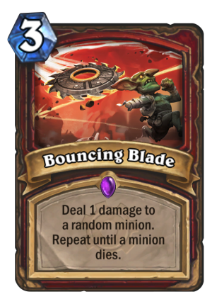 Bouncing Blade Card