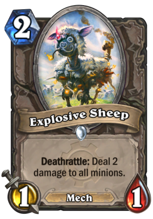 Explosive Sheep Card
