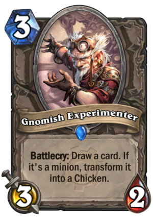 Gnomish Experimenter Card
