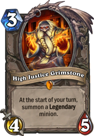 High Justice Grimstone Card