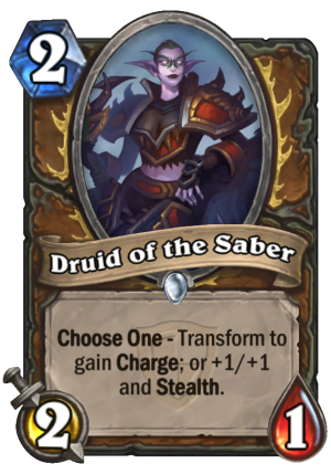 Druid of the Saber Card