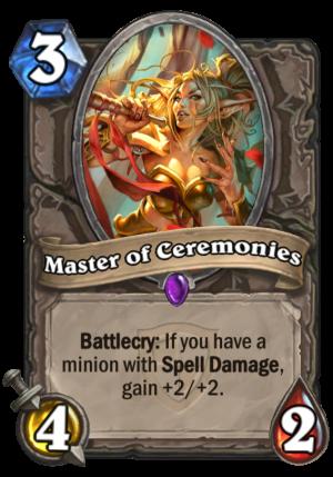Master of Ceremonies Card