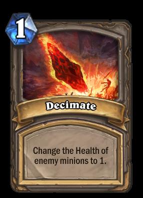 Decimate Card