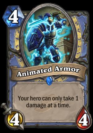 Animated Armor Card