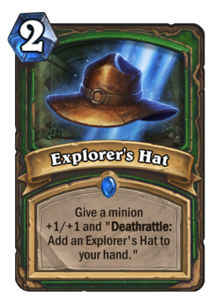 Explorer's Hat Card