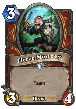 Fierce Monkey Card