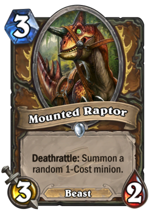 Mounted Raptor Card