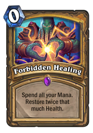 Forbidden Healing Card