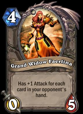 Grand Widow Faerlina Card