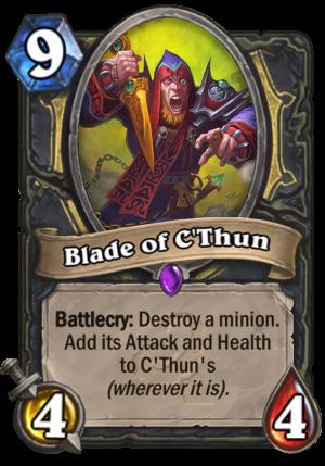 Blade of C'Thun Card