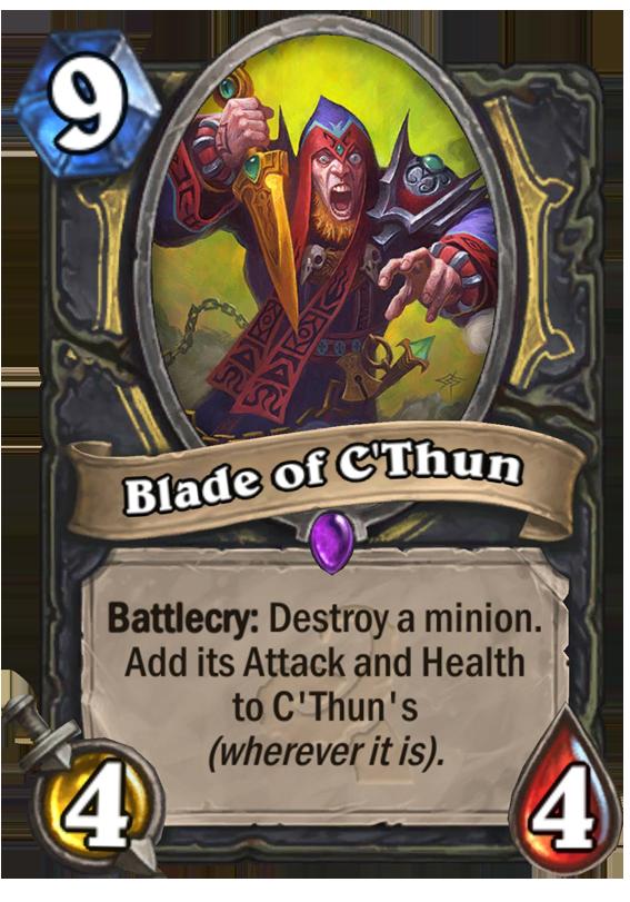 Blade Of C Thun Hearthstone Card Hearthstone Top Decks