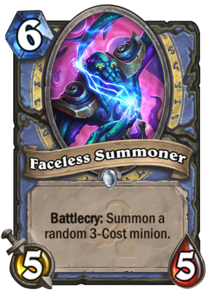 Faceless Summoner Card