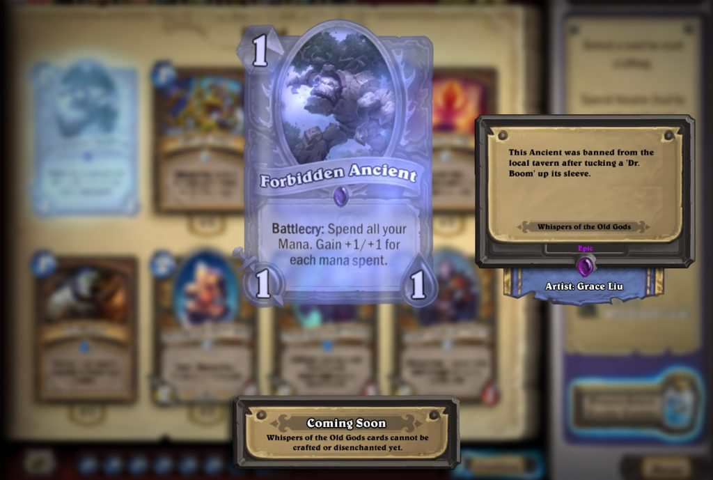 Hearthstone Can You Craft Wild Cards
