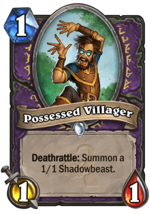 Possessed Villager Card