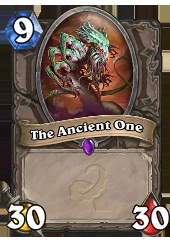 The Ancient One Hearthstone Card Hearthstone Top Decks