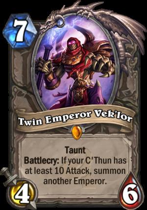 Twin Emperor Vek'lor Card