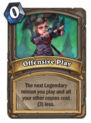 Offensive Play Card