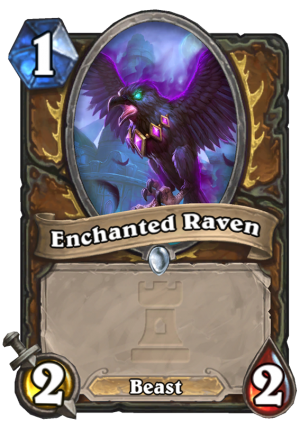 Enchanted Raven Card
