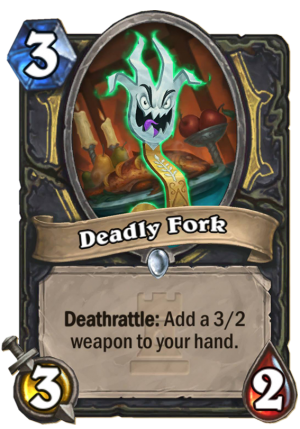 Deadly Fork Card