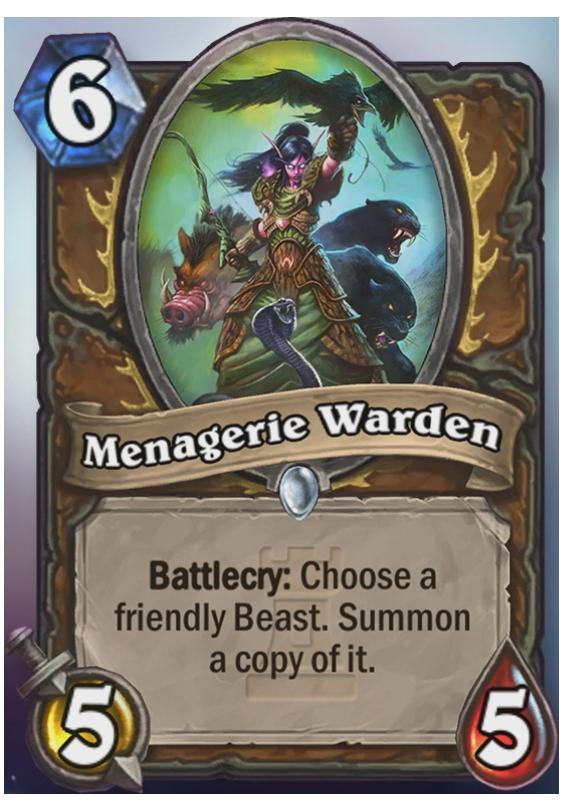 Menagerie Warden - Hearthstone Card - Hearthstone Top Decks