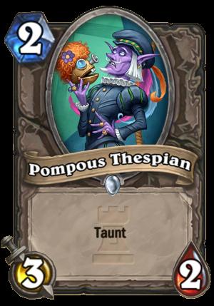 Pompous Thespian Card