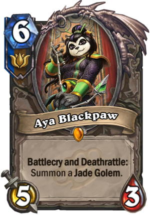 Aya Blackpaw Card