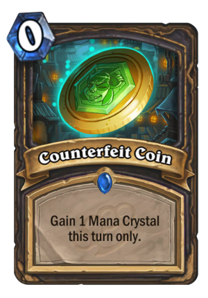 Counterfeit Coin Card