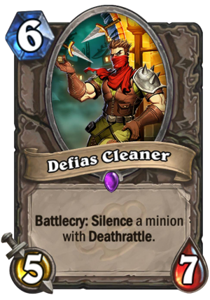 Defias Cleaner Card