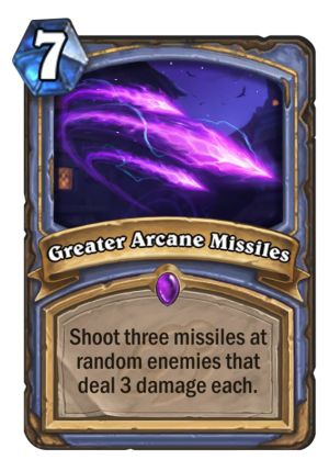 Greater Arcane Missiles Card