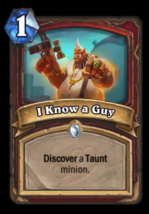 I Know a Guy Card