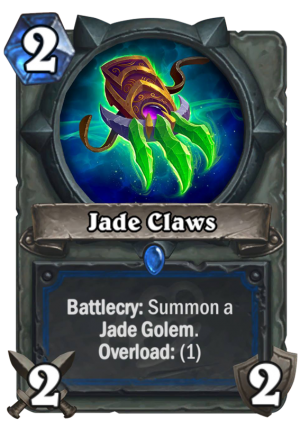 Jade Claws Card
