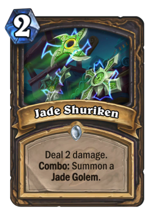 Jade Shuriken Card