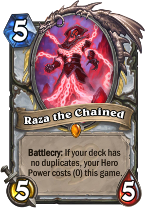 Raza the Chained Card