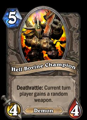 Hell Bovine Champion Card