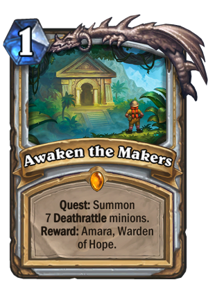 Awaken the Makers Card