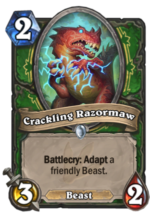 Crackling Razormaw Card