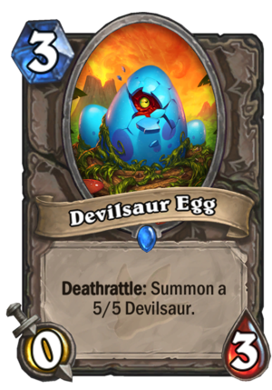 Devilsaur Egg Card