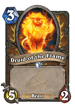 Druid of the Flame (Attack) Card