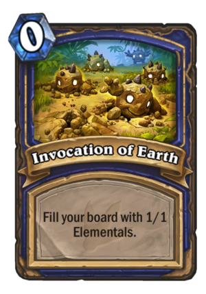 Invocation of Earth Card