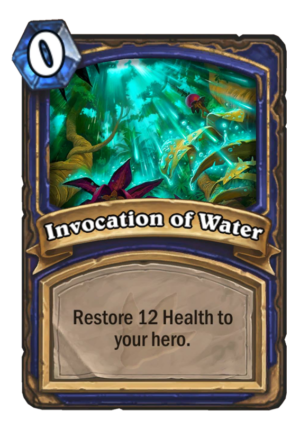 Invocation of Water Card