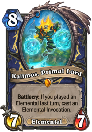 Kalimos, Primal Lord Card