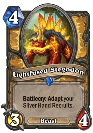 Lightfused Stegodon Card