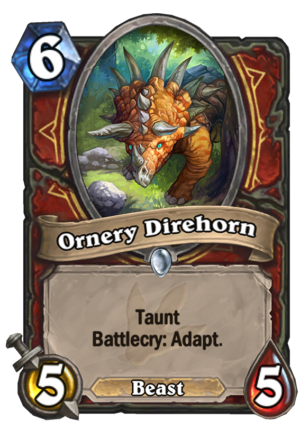 Ornery Direhorn Card