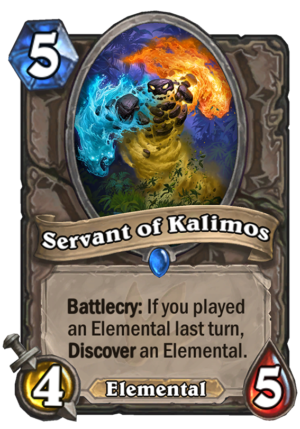 Servant of Kalimos Card