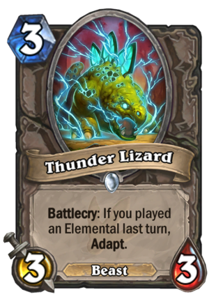 Thunder Lizard Card
