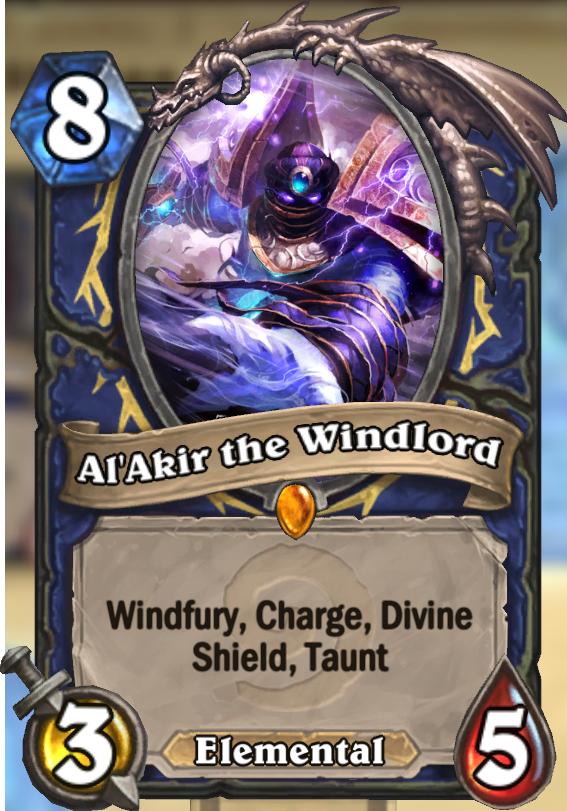 Al Akir The Windlord Hearthstone Card Hearthstone Top