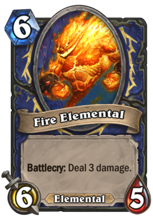 Fire Elemental Card