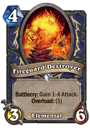 Fireguard Destroyer Card